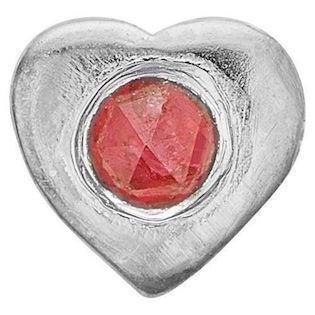 Ruby Heart 925 sterling sølv  Collect urskive pynt smykke fra Christina Collect